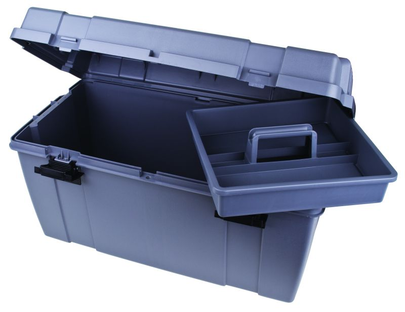 Utility/Tool Box with Lift-Out Tray: Gray Utility,Tool,Box,Lift-Out,Tray, 27800-2, 6754TC