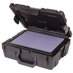 "Defender 12"" with Diced Foam Defender,foam,diced, blow mold, plastic case, double wall, water resistant, crush resistant, chemical resistant, rear feet, gasket seal, 50641F"