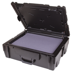 Defender 23 (DY 9) with Diced Foam defender 23, plastic case, double wall, crush resistant, water resistant, stackable, chemical resistant, gasket seal, diced foam, 50720F, ESD