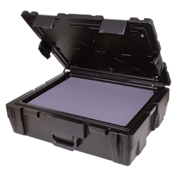 Defender 26 (DZ 9) with Diced Foam defender, water resistant, crush resistant, diced foam, stackable, chemical resistant, gasket seal, blow mold, rear feet, plastic case, 50721F