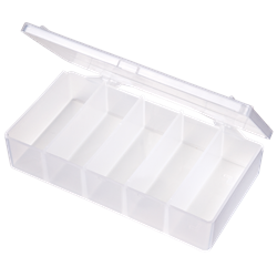 T155 Five-Compartment Box T155, 6688TE, T-Series,polypropylene,translucent,chemical resistance,product storage,protection,plastic packaging,plastic cases