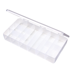 T201 12-Compartment Box T201, 6692TE, T-Series,polypropylene,translucent,chemical resistance,product storage,protection,plastic packaging,plastic cases