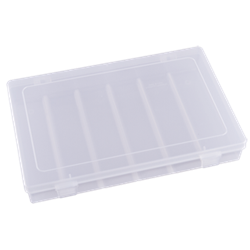 T4000 One-Compartment Box polypropylene,Tuff-Tainer,detachable lid,movable dividers,compartments,harsh conditions,chemical resistance,plastic cases,plastic packaging, 6734TE, T4000