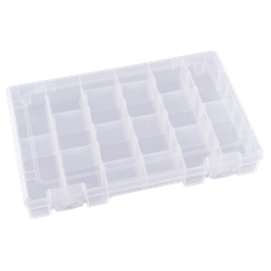 Six Compartments w/ 12 Removable Dividers polypropylene,Tuff-Tainer,detachable lid,movable dividers,compartments,harsh conditions,chemical resistance,plastic cases,plastic packaging, blue diamond, T4007E, 6745TE
