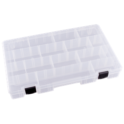 Four Compartments w/ 20 Removable Dividers polypropylene,Tuff-Tainer,detachable lid,movable dividers,compartments,harsh conditions,chemical resistance,plastic cases,plastic packaging, T5007, 6757TE, blue diamond