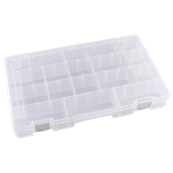 Four Compartments w/ 15 Removable Tarnish Inhibitor Dividers polypropylene,Tuff-Tainer,detachable lid,movable dividers,compartments,harsh conditions,chemical resistance,plastic cases,plastic packaging, 6758TE, T5007AT,