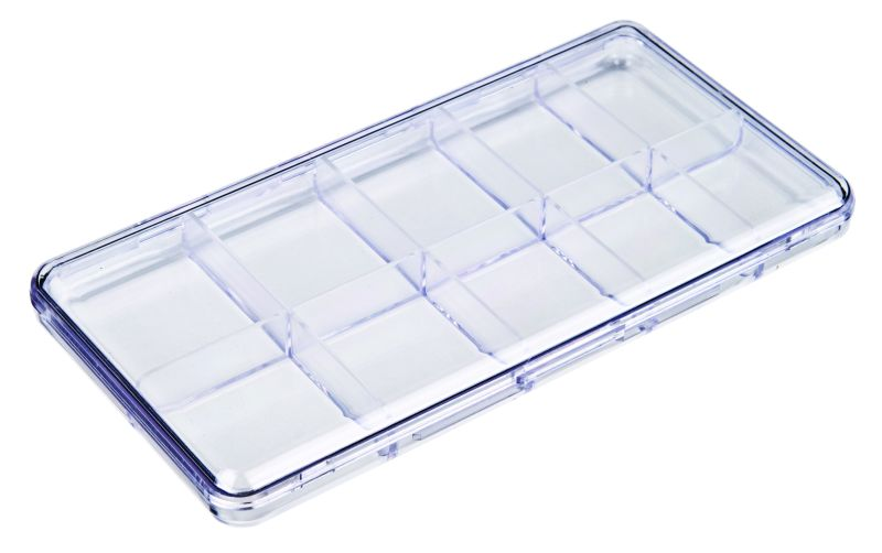 A213-Slim Line 10-Compartment Box styrene,box,plastic,packaging,merchandising,display,clarity,storage case,product display,one compartment,visibility,case,plastic box,retail merchandising, A series,plastic cases, plastic case,point of purchase, Slim Line, A213-SL, 6627CS