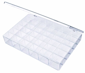 A166-36 36-Compartment Box styrene,box,plastic,packaging,merchandising,display,clarity,storage case,product display,one compartment,visibility,case,plastic box,retail merchandising, A series,plastic cases, plastic case,point of purchase, A166-36, 6606CB