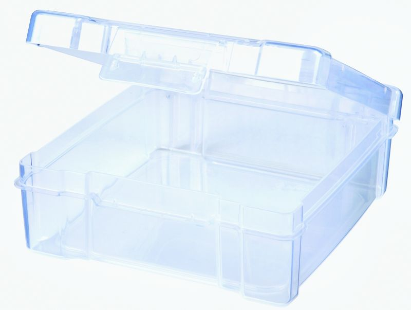 6 x 6 Box plastic boxes, translucent clear boxes, plastic packaging, cosmetic boxes, first aid kits, storage boxes, sample kits, Flambeau Packaging, customizable boxes