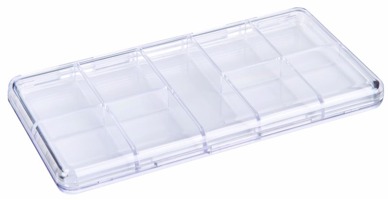 A210 Slim Line Compartmented Box a series, a-series,plastic cases,plastic packaging,merchandising,products,product,display,one compartment,one-compartment
