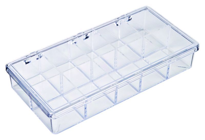 A213 10-Compartment Box styrene,box,plastic,packaging,merchandising,display,clarity,storage case,product display,one compartment,visibility,case,plastic box,retail merchandising, A series,plastic cases, plastic case,point of purchase, A213, 6621CM