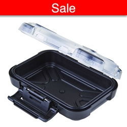 "Black Ribbon Clear Lid w/ Black Base 5"" (12.70 cm) black ribbon case, clear lid, black base, 5"", 12.70 cm, water resistant, 6735PT, close out, sale"