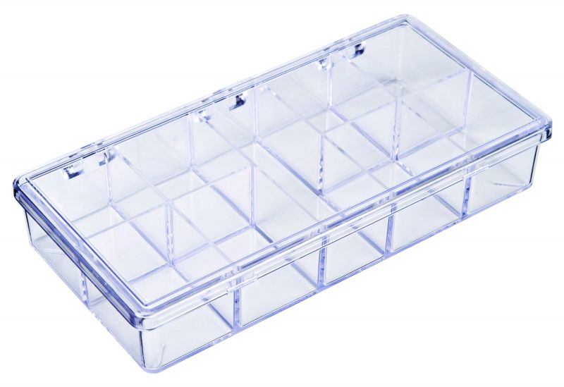 A210 Nine-Compartment Box styrene,box,plastic,packaging,merchandising,display,clarity,storage case,product display,one compartment,visibility,case,plastic box,retail merchandising, A series,plastic cases, plastic case,point of purchase, A210, 6622CB