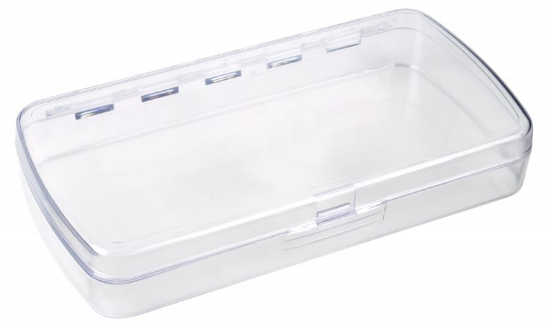 4040-2 One-Compartment Box precision box,plastic box,plastic case,one-compartment,one compartment,plastic boxes,plastic cases,display,clarity,rust-proof,rust proof,rust proof hinge,rust-proof hinge,Styrene Butadiene Methyl Methacrylate, 4040-2, 4040, 6740AA, blue diamond