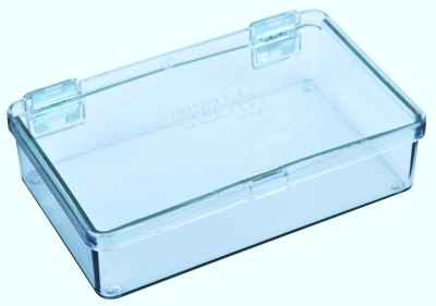 5200CL One-Compartment Box Mighty-Tuff,cellulose propionate,harsh,industrial,institutional,double-metal hinge,impact,chemical resistance,plastic cases,plastic packaging, 5200CL, 6230MT