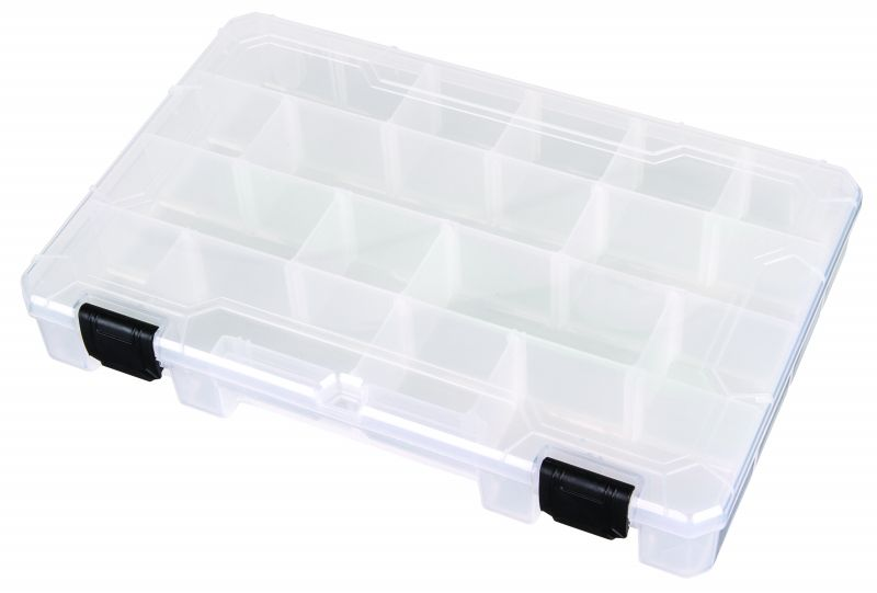 T4007 Four Compartments w/12 Removable Dividers polypropylene,Tuff-Tainer,detachable lid,movable dividers,compartments,harsh conditions,chemical resistance,plastic cases,plastic packaging,zerust, blue diamond, 6747TE, T4007