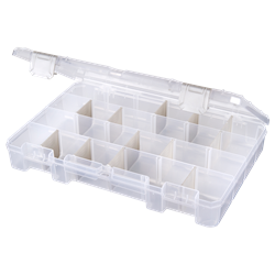 T4007AT Six Compartments w/ 12 Removable Tarnish Inhibitor Dividers polypropylene,Tuff-Tainer,detachable lid,movable dividers,compartments,harsh conditions,chemical resistance,plastic cases,plastic packaging, blue diamond, T4007E, 6746TE