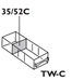 TW-C Conductive Storage Replacement Drawer 6 Pack - 6061DP