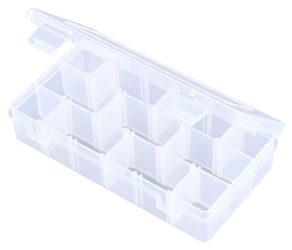 T2003 Three-Compartments & 15 Removable Dividers polypropylene,Tuff-Tainer,detachable lid,movable dividers,compartments,harsh conditions,chemical resistance,plastic cases,plastic packaging, T2003, blue diamond, 6703TE