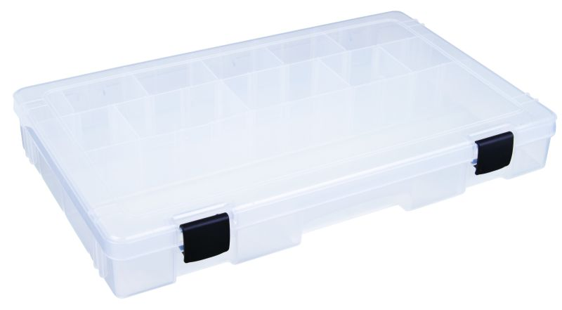 T5003 Three- to 25-Compartment Box (mech latch) 6753TE, polypropylene,Tuff-Tainer,detachable lid,movable dividers,compartments,harsh conditions,chemical resistance,plastic cases,plastic packaging, T5003, blue diamond