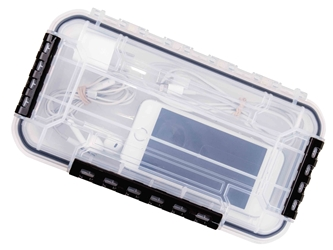 WT3000 Waterproof One-Compartment Box waterproof boxes, waterproof tuff tainers, heavy-duty boxes, durable boxes, plastic boxes, storage boxes, fishing boxes, medical kits, sales kits, demo kits, industrial boxes, customizable boxes, flambeau, flambeau cases, storage boxes, clear boxes, 6723TE, WT3000,