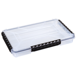 WT5000 Waterproof One-Compartment Box waterproof boxes, waterproof tuff tainers, heavy-duty boxes, durable boxes, plastic boxes, storage boxes, fishing boxes, medical kits, sales kits, demo kits, industrial boxes, customizable boxes, flambeau, flambeau cases, storage boxes, clear boxes, WT5000, 6750TE