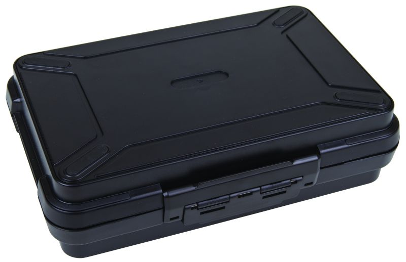 "Black Ribbon 8 3/4"" (22.23 cm) plastic cases, black ribbon cases, storage cases, water resistant cases, durable cases, flambeau cases, flambeau packaging, packaging products, customized cases, black cases, ABS plastic, 6738PC, 8 3/4"""