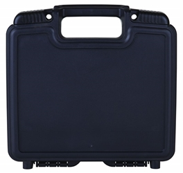 "Merchant 10"" Black-with Flat Foam and Convoluted Base merchant,case,plastic packaging,plastic cases, blue diamond, 6772TF, 10"", small case, case, black, firearm case, flashlight case, kit, convolute foam, foam, flat foam"