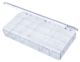 A204 12-Compartment Box styrene,box,plastic,packaging,merchandising,display,clarity,storage case,product display,one compartment,visibility,case,plastic box,retail merchandising, A series,plastic cases, plastic case,point of purchase, A204, 6641CB