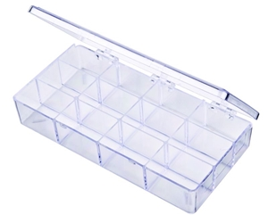 A219 12-Compartment Box styrene,box,plastic,packaging,merchandising,display,clarity,storage case,product display,one compartment,visibility,case,plastic box,retail merchandising, A series,circle,circular,plastic cases, plastic case,point of purchase, A219, 6636CB