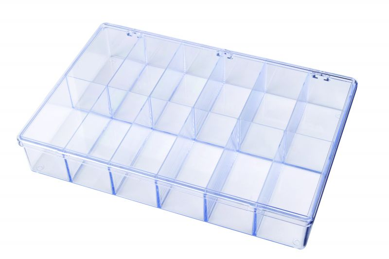 A812 12-Compartment Box styrene,box,plastic,packaging,merchandising,display,clarity,storage case,product display,one compartment,visibility,case,plastic box,retail merchandising, A series,plastic cases, plastic case,point of purchase, A812, 6676CB