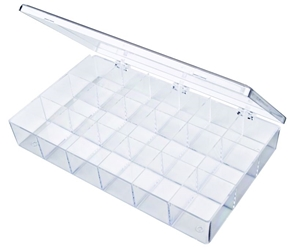 A618 18-Compartment Box styrene,box,plastic,packaging,merchandising,display,clarity,storage case,product display,one compartment,visibility,case,plastic box,retail merchandising, A618, 6666CB