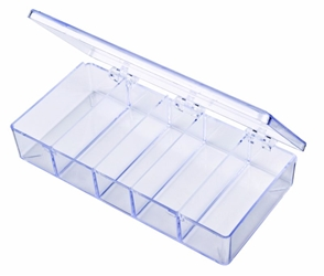 A215 Five-Compartment Box styrene,box,plastic,packaging,merchandising,display,clarity,storage case,product display,one compartment,visibility,case,plastic box,retail merchandising, A series,circle,circular,plastic cases, plastic case,point of purchase, A215, 6630CB