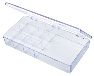A209 Nine-Compartment Box styrene,box,plastic,packaging,merchandising,display,clarity,storage case,product display,one compartment,visibility,case,plastic box,retail merchandising, A series,plastic cases, plastic case,point of purchase, A209, 6620CB
