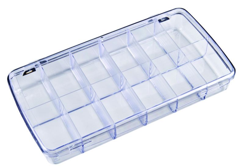 DB208 12-Compartment Box Diamondback,styrene,plastic box,merchandising,product display,clarity,packaging,merchandising,display,clarity,storage case,compartmented,visibility,case,plastic box,retail merchandising, 6718CD, DB208