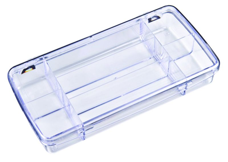 DB217 Seven-Compartment Box 6734CD, DB217, Diamondback,styrene,plastic box,merchandising,product display,clarity,packaging,merchandising,display,clarity,storage case,compartmented,visibility,case,plastic box,retail merchandising
