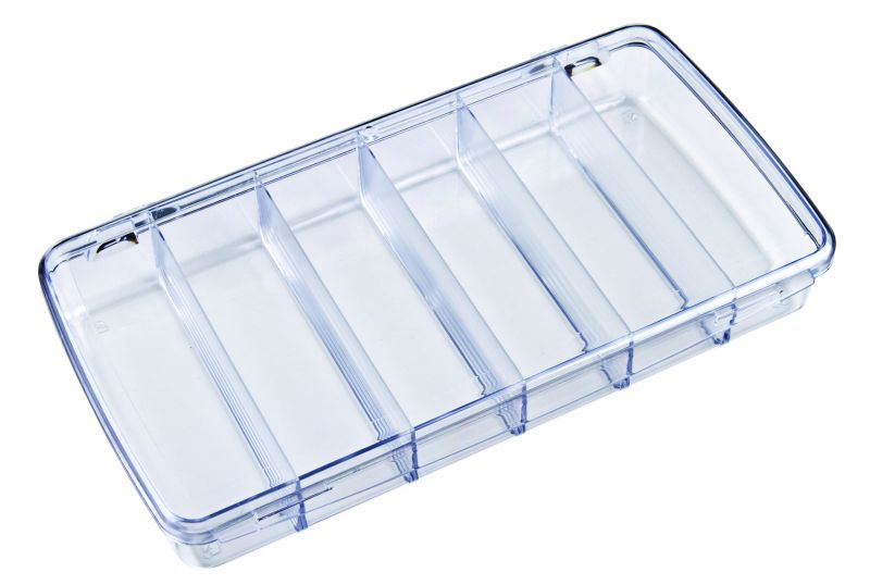 DB203 Six-Compartment Box DB203, 6712CD, Diamondback,styrene,plastic box,merchandising,product display,clarity,packaging,merchandising,display,clarity,storage case,compartmented,visibility,case,plastic box,retail merchandising