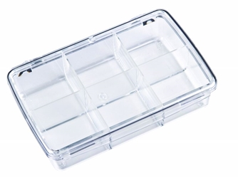DB220 Six-Compartment Box 6740CD, DB220, Diamondback,styrene,plastic box,merchandising,product display,clarity,packaging,merchandising,display,clarity,storage case,compartmented,visibility,case,plastic box,retail merchandising