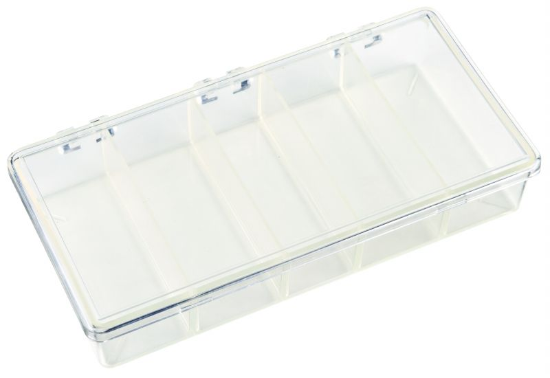 K215 Five-Compartment Box K215, 6630KB, styrene,plastic box,merchandising,product display,clarity,packaging,merchandising,display,clarity,storage case,compartmented,visibility,case,plastic box,retail merchandising,k series