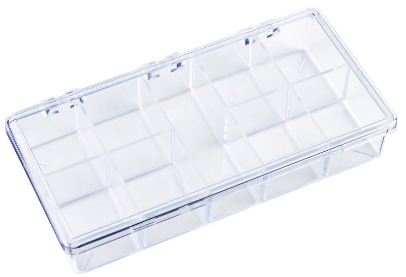 K210 Nine-Compartment Box 6622KB, K210, K-Series,styrene,plastic box,merchandising,product display,clarity,packaging,merchandising,display,clarity,storage case,compartmented,visibility,case,plastic box,retail merchandising