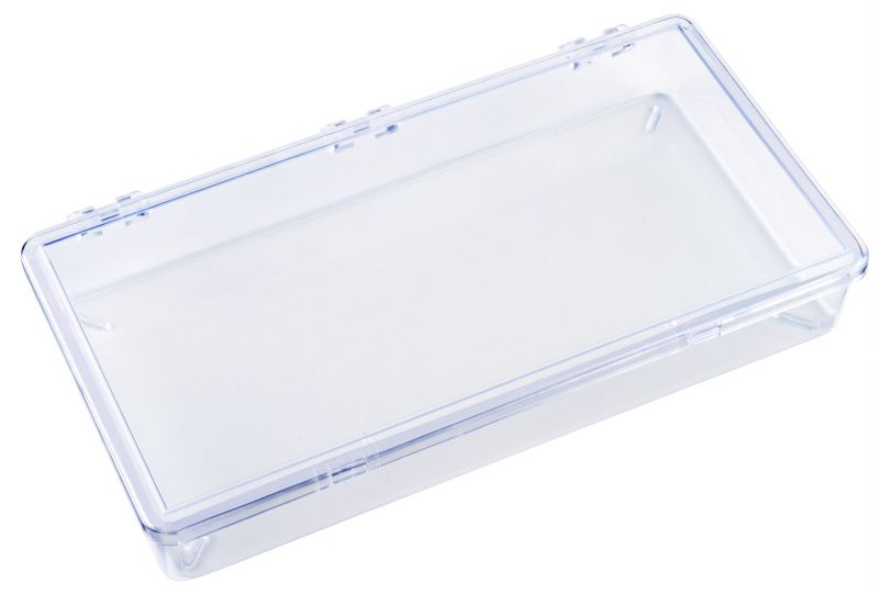 K206 One-Compartment Box K206, 6616KB, styrene butadiene copolymer,plastic box,durable,merchandising,product display,impact resistance,clarity,packaging,display,storage case,compartmented,visibility,case,plastic box,retail merchandising