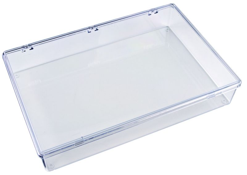 K801 One-Compartment Box K801, 6672KB, K series,k-series,plastic,plastic cases,resin,dupont,packaging,case,compartmented,plastic box,styrene butadiene copolymer,impact resistance,transparent