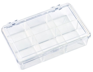 K220 Six-Compartment Box 6640KB, K220, Diamondback,styrene,plastic box,merchandising,product display,clarity,packaging,merchandising,display,clarity,storage case,compartmented,visibility,case,plastic box,retail merchandising