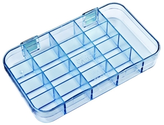 5126CL 17-Compartment Box Mighty-Tuff,cellulose propionate,harsh,industrial,institutional,double-metal hinge,impact,chemical resistance,plastic cases,plastic packaging, 5216CL, 6220MT