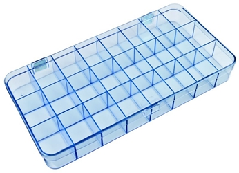 5129CL 24-Compartment Box Mighty-Tuff,cellulose propionate,harsh,industrial,institutional,double-metal hinge,impact,chemical resistance,plastic cases,plastic packaging, 5129CL, 6226MT