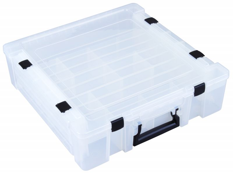 T9500 Deluxe Super Satchel Box Super satchel,compartments,Flambeau cases,removable dividers, plastic satchels, plastic cases, compartment boxes, plastic packaging, Deluxe Super Satchel Boxes, storage boxes, Flambeau Packaging Products, T9500, 6787TE