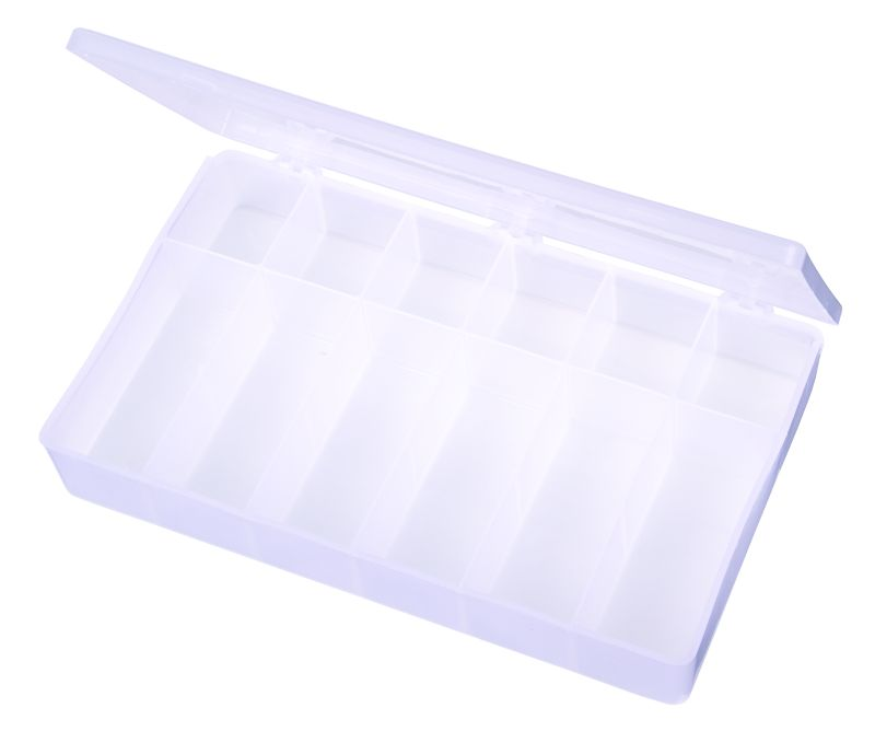 12-Compartment Box 6712TE, T612, T-Series,polypropylene,translucent,chemical resistance,product storage,protection,plastic packaging,plastic cases