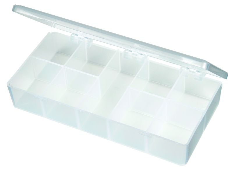 T210 Nine-Compartment Box T210, 6698TE, T-Series,polypropylene,translucent,chemical resistance,product storage,protection,plastic packaging,plastic cases