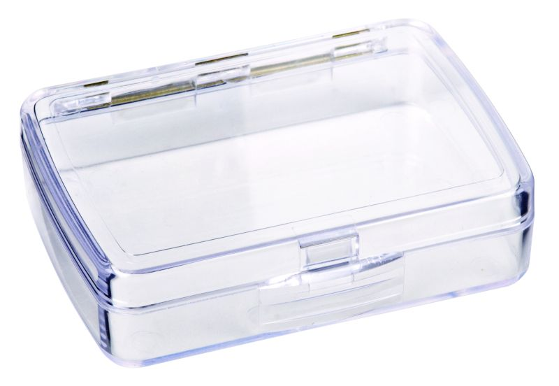 2020-2 One-Compartment Box precision box,plastic box,plastic case,one-compartment,one compartment,plastic boxes,plastic cases,display,clarity,rust-proof,rust proof,rust proof hinge,rust-proof hinge,Styrene Butadiene Methyl Methacrylate, 2020-2, 2020, 6240AA, blue diamond